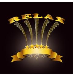 relax ribbon vector image vector image