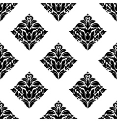 Repeat seamless floral pattern vector image vector image