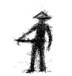 woman hawker vector image