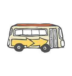 A bus is parked vector image