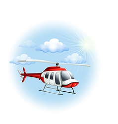 A chopper in the sky vector