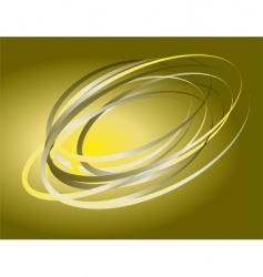 abstract background of rotating rings vector image