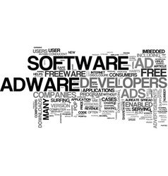 Adware are downloads safe text word cloud concept vector