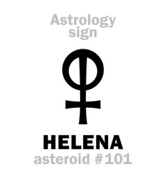 astrology asteroid helena helen of troy vector image