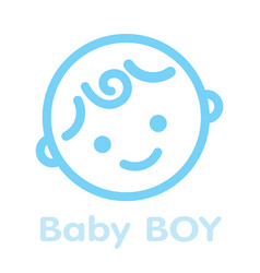 baby boy face icon symbol isolated background vector image