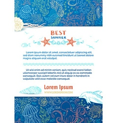 Background of wild sea life vector