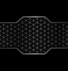 black metal texture background geometric pattern vector image