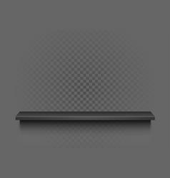 black shelf on transparent background vector image