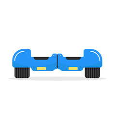 Blue hoverboard with shadow vector