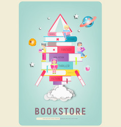 bookstore poster vector image