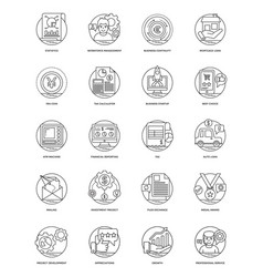 business line icons 6 vector image