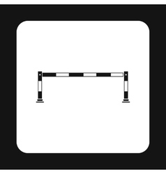 Car barrier icon simple style vector image