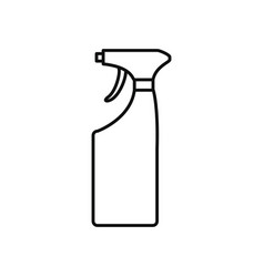 cleaning spray bottle icon line style vector image
