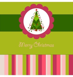 Colorful Christmas card with a tree vector image