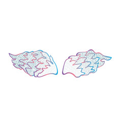 Colorful of angel wings vector