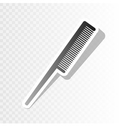 Comb sign new year blackish icon on vector