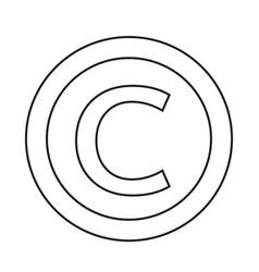 Copyright symbol icon vector