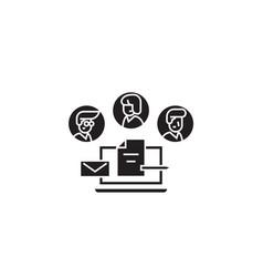 corporate management environment black vector image
