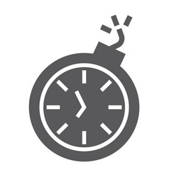deadline glyph icon time and clock stopwatch vector image