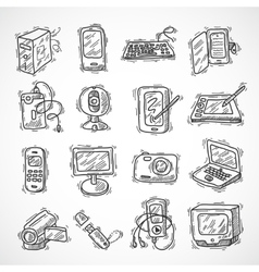 Digital Devices Set vector