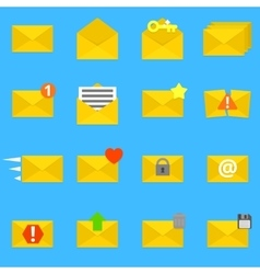Envelope icons set vector image