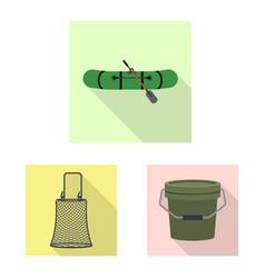 fish and fishing logo set vector image