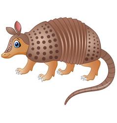 funny armadillo cartoon vector image