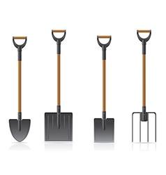 garden tool shovel 04 vector image