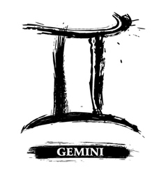 Gemini symbol vector image