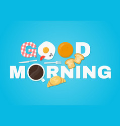 good morning concept vector image