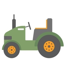 Green agricultural machinery vector image