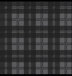 Grey check tartan wool material vector