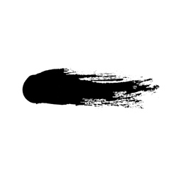 grunge ink brush isolated on white vector image