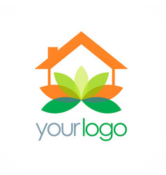 home yoga spa logo vector image