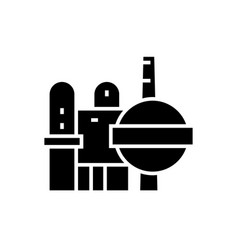 industry - oil refinery icon vector image