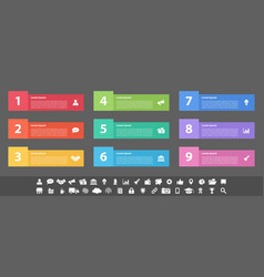 infographic design business concept with 9 steps vector image