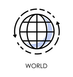international world delivery isolated icon vector image