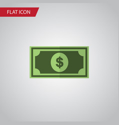 Isolated dollar flat icon greenback vector