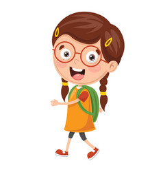 kid going to school vector image
