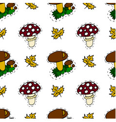 kids cartoon seamless pattern lovely pictures for vector image