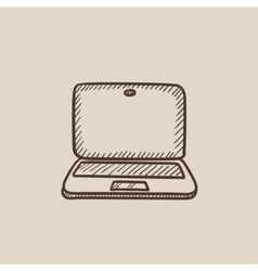Laptop sketch icon vector image