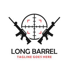 long shotgun logo vector image