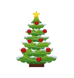 Merry chrismas tree vector