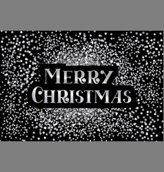 Merry christmas inscription calligraphic lettering vector