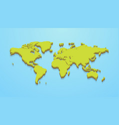 Minimalistic world map vector