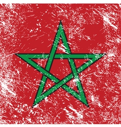 morocco retro flag vector image