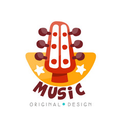 music logo original design music studio shop vector image