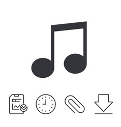 music note sign icon musical symbol vector image