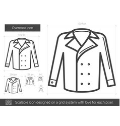 overcoat line icon vector image