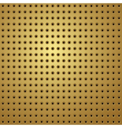 Perforated gold vector